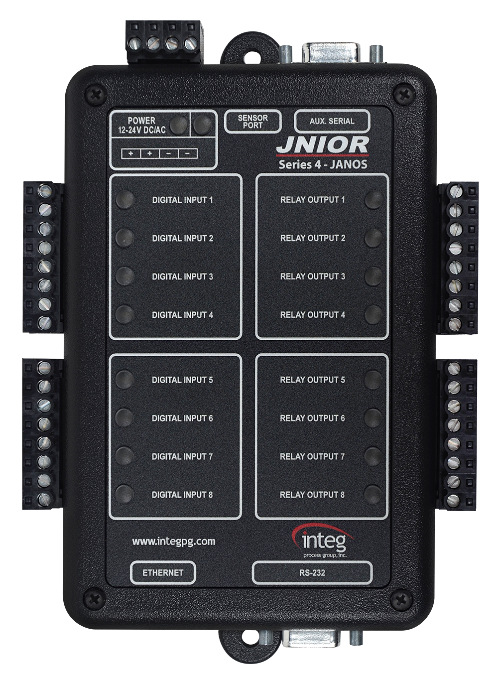 JNIOR Model 410 - 8 DIN / 8 ROUT / RS-485 Capable