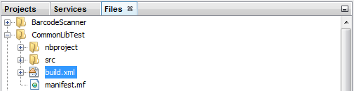 Files for JNIOR netbeans project