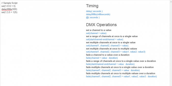Scripts for DMX Application