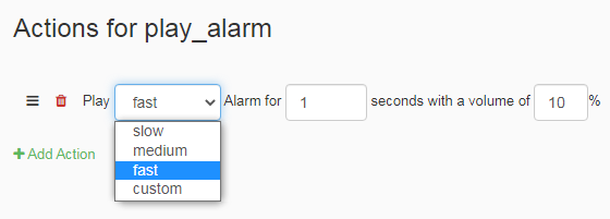 Control Panel alarm Tasker example
